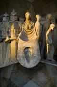 Gaudi Y Cornet Photo Posters - Statues At Gaudis La Sagrada Familia Poster by Annie Griffiths