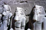 Statues Of Ramses II Print by Granger