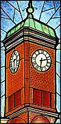 Clocks Painting Framed Prints - Staunton Clock Tower Landmark Framed Print by Jim Harris