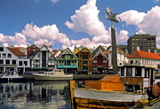 Skagen Prints - Stavanger Harbor Print by Sally Weigand
