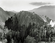 Black And White Rural Photography Prints - Stawamus Chief, Squamish, British Columbia, Canada, Tilt-shift Print by Brian Caissie