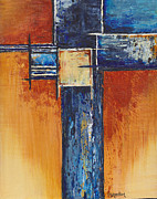 Cruciform Paintings - Stay Gold by Cindy Johnston