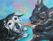 Buddies Paintings - Stay With Me by Deb Magelssen