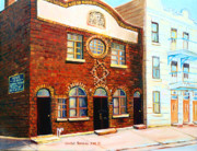 St.dominique Street Synagogue Print by Carole Spandau