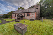 Graveyard Digital Art - St.Dyfnogs Church by Adrian Evans