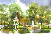 Villa Painting Originals - Ste. Marie du Lac in Watercolor by Kip DeVore