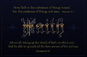 Scripture Digital Art. Scripture Digital Prints Prints - Steadfast Faith Print by Greg Long