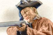 Revolutionary Digital Art Originals - Steady Aim Milita Soldier by Randy Steele