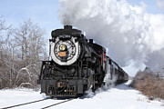 Railroads Photo Posters - Steam at Tobyhanna Poster by Daniel Troy
