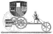 Trevithick Framed Prints - Steam Carriage, 1801 Framed Print by Granger