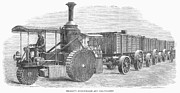 Carriage Road Photos - Steam Carriage, 1870 by Granger