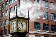 Whistles Posters - STEAM CLOCK gastown vancouver bc canada Poster by Andy Smy