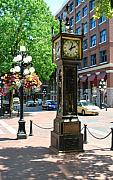 Vancouver Photo Originals - Steam Clock by Terence Davis
