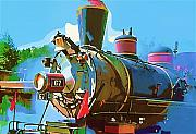 Gouache Digital Art - Steam Engine 67 by Dale Stillman