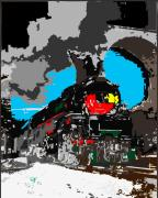 Antique Digital Art Originals - Steam Engine 84 by Kevin  Sherf