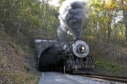 Train Ride Prints - Steam Engine Train on the Western Maryland Scenic Railroad Print by Brendan Reals