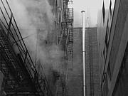 Anna Villarreal Garbis Acrylic Prints - Steam in the Alley 4 Acrylic Print by Anna Villarreal Garbis