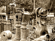 Roberto Alamino Prints - Steam Junkyard Print by Roberto Alamino