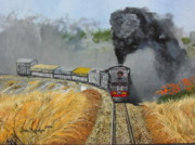 Antiques Paintings - Steam Locomotive  by Simbarashe Mugwagwa