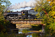 Train On Bridge Prints - Steam Power in the Valley Print by Tim  Fitzwater