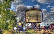 Steam Train Prints Art - Steam Power by Ken Smith