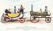 Carriage Road Photos - Steam-powered Coach, 1829 by Sheila Terry