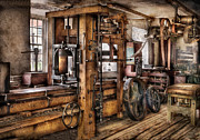 Mechanism Framed Prints - Steam Punk - The Press Framed Print by Mike Savad