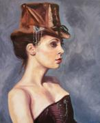 Steam Punk Painting Posters - Steam punk edith Poster by Jeni Westcott
