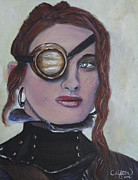 Vixen Paintings - Steam Punk Vixen by Sandy Clifton