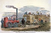 1851 Photos - Steam Thresher, 1851 by Granger