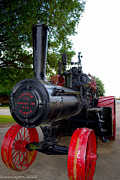 Antique Tractors Photos - Steam Tractor by Shannon Harrington