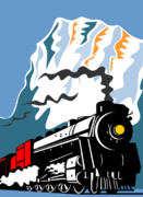 Train Digital Art Posters - Steam train Poster by Aloysius Patrimonio