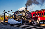 Consolidation Posters - Steam Train No. 40 Poster by Susan Candelario