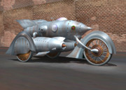 Art Deco Digital Art - Steam Turbine Cycle by Stuart Swartz