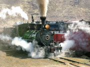 Colorado Railroad Museum Posters - Steam Up Poster by Ken Smith