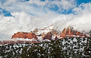 Cathedral Rock Photos - Steamboat Rock Storm by Jim Chamberlain