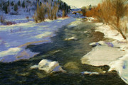 Colorado Springs Mixed Media Prints - Steamboat Springs Print by Renee Skiba