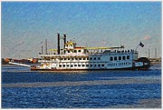 Mississippi River Greeting Cards Posters - Steamboat Poster by Vladimir Rayzman