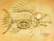 Fish Reliefs - Steamfish 3 by Baron Dixon