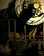 Steam Locomotives Digital Art Posters - Steaming into Harbor  Poster by Steven  Digman