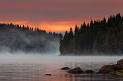 Twilight Framed Prints - Steaming lake Framed Print by Evgeni Dinev