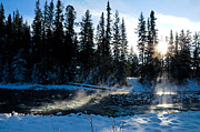 Alp Photos - Steaming river in winter by Ulrich Schade
