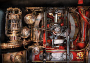 Age Of Invention Framed Prints - Steampunk - Check the gauges  Framed Print by Mike Savad