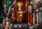 Steampunk - Coffee Break Print by Mike Savad