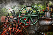 Gear Wheel Posters - Steampunk - Machine - Transportation of the future Poster by Mike Savad