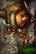 Featured Prints - Steampunk - Naval - Shut the valve  Print by Mike Savad