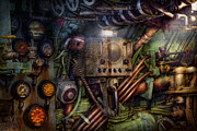 Featured Prints - Steampunk - Naval - The comm station Print by Mike Savad