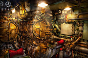 Contraption Prints - Steampunk - Naval - The torpedo room Print by Mike Savad