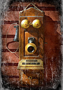 Telephones Prints - Steampunk - Phone Phace  Print by Mike Savad