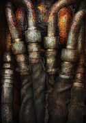 Cyber Prints - Steampunk - Pipes Print by Mike Savad